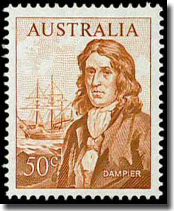 The 50 cent Dampier stamp of 1966 issue