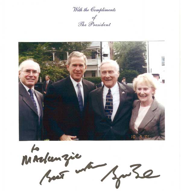 George Bush, John Howard, Mac and Denise