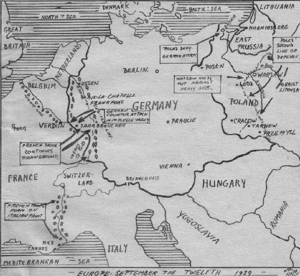 Blank Map Of Europe 1919