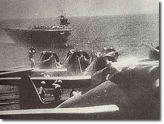 Japanese Carriers en route to attack US Pacific Fleet at Pearl Harbor on December 7th. 1941.