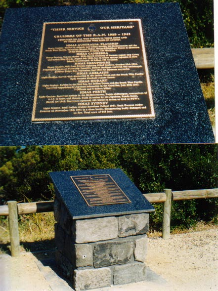 Pictures of the Memorial Cairn at Queenscliff