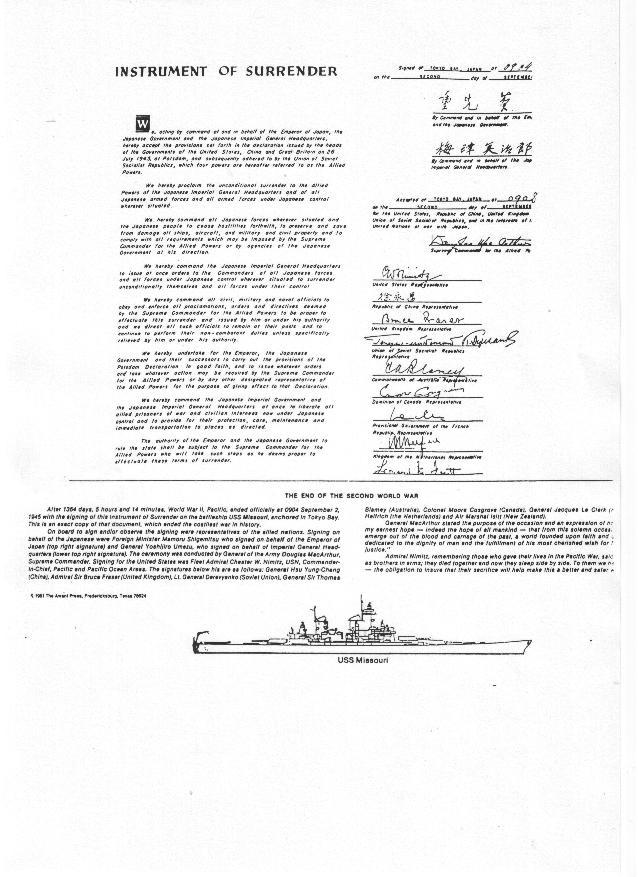 Surrender Document