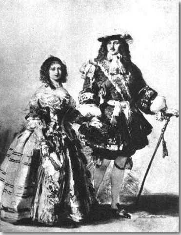 Queen Victoria & Albert.dressed for Resoration Ball 1854