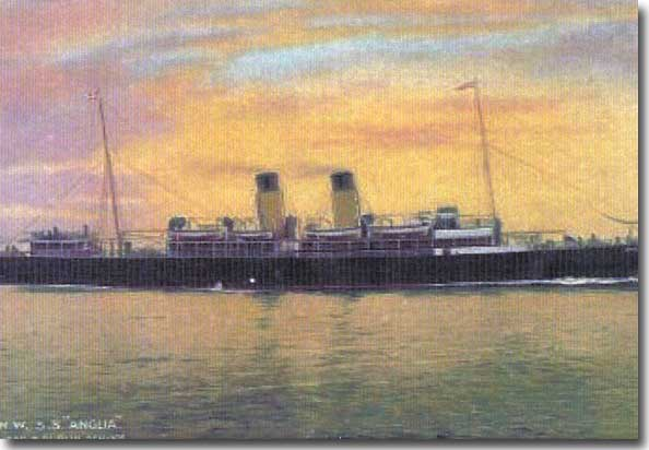 SS Anglia prior to her being converted to an Auxiliary Hospital Ship