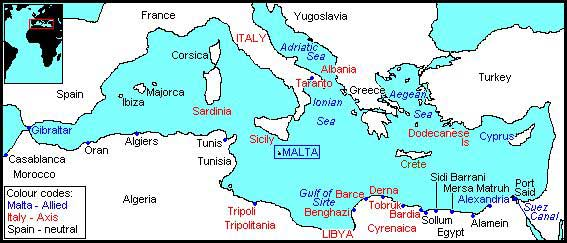 Map of Mediterranean Area