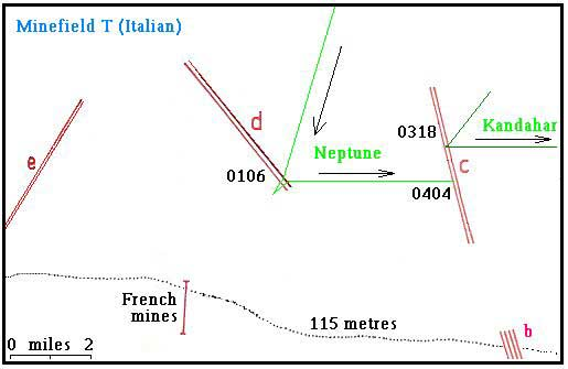 "MAP - MINEFIELD ""T""