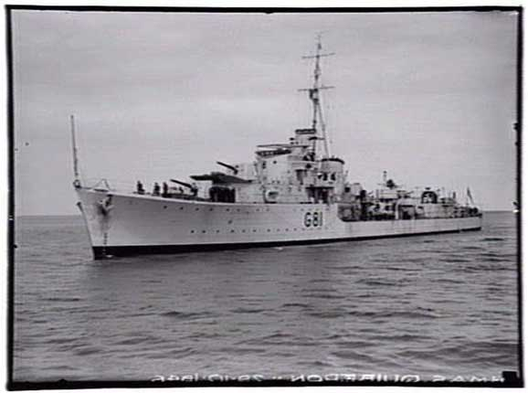 Photograph HMAS Quiberon. Reproduced from the State Library of Victoria, copyright acknowledged.