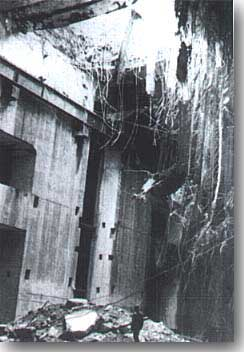Bomb damage at Brest U-boat base in August 1944