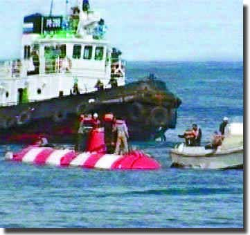Success! all seven crew rescued from Russian Mini-Sub on Sunday the 7th. of August 2005