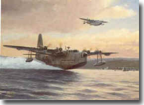 Coastal Command Sunderland aircraft, part of the air umbrella put up over Convoys, SC122 and HX229