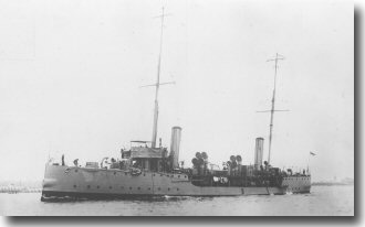 Picture of HMS Hazard, who rescued survivors of the British Hospital Ship Anglia, mined off Folkstone in 1915