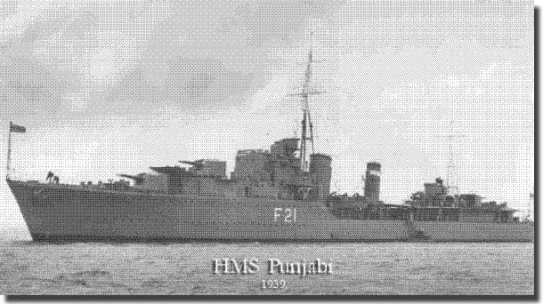 HMS Punjabi involved in the evacuation of British troops from St Nazaire in June of 1940