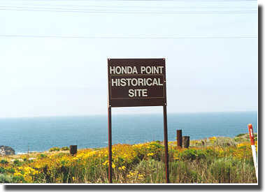 Marker depicting the Honda Point area.