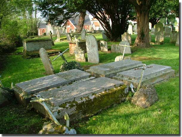 Moresby Graves at the SS Margaret and Andrew Churchyard, Littleham, Exmouth.Devon.