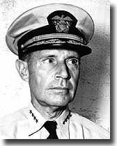 Admiral Raymond A. Spruance. USN. in overall command of the Fleet at Okinawa