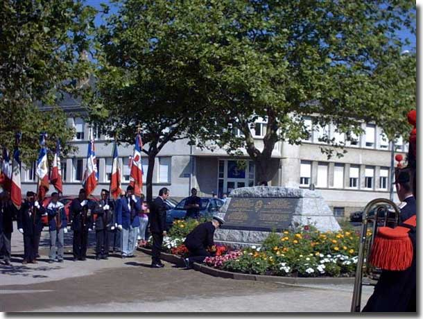 Picture from Yves in St Nazaire, honouring the loss from HMT Lancastria