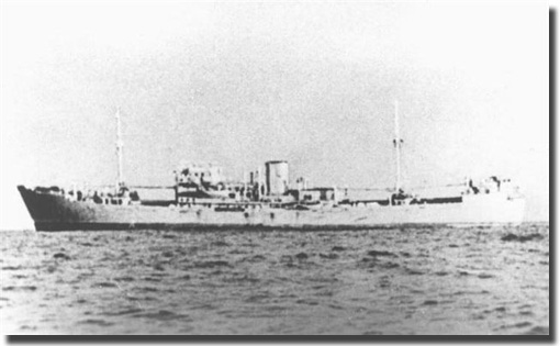 German Armed Merchant Raider Michel, sank Gloucster Castle, off the Ascention Islands on the 15th. of July 1942. 93 crew and passengers were killed in this action.