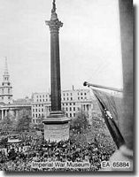 Trafalgar Square London VE Day 1945 - click to read more