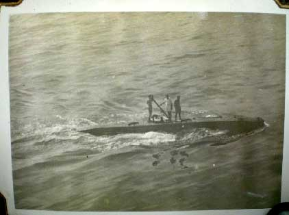 British Midget Submarine XE-5 taken in Subic Bay from the deck of HMAS Shropshire