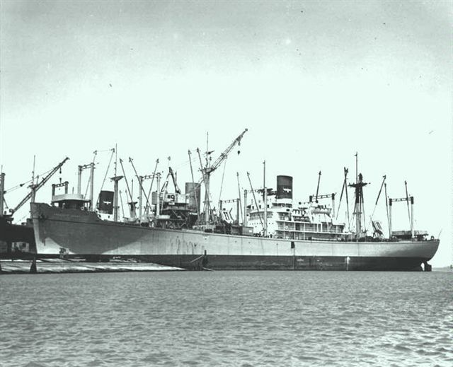 USAT President Grant. The troopship that returned Canberra survivors to Australia.