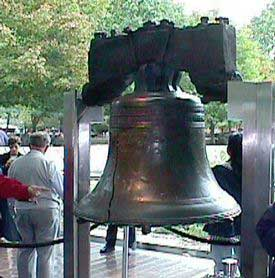 Liberty Bell with its famous crack