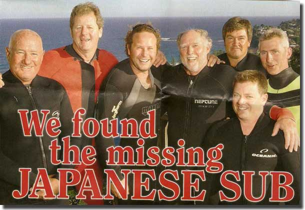 The Group of 7 Divers who located and dived on the Japanese Midget Submarine, M-24 in November 2006