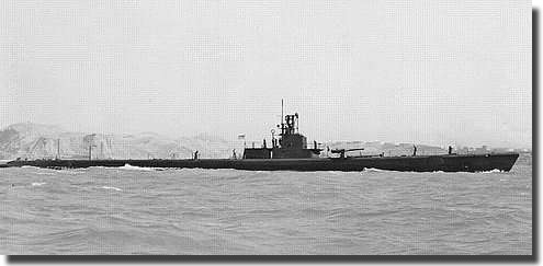 U.S.S. Wahoo pictured in July 1943