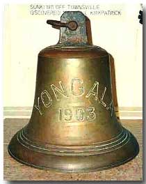 Ship's bell from Yongala