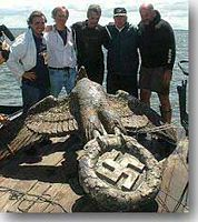 Huge Bronze Eagle from Graf Spee sunk off Montevideo in 1939 - click to read more