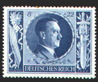 Stamp for Hitler's Birthday 1943, issued in Germany
