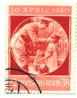 Stamp for the1940 birthday of Hitler