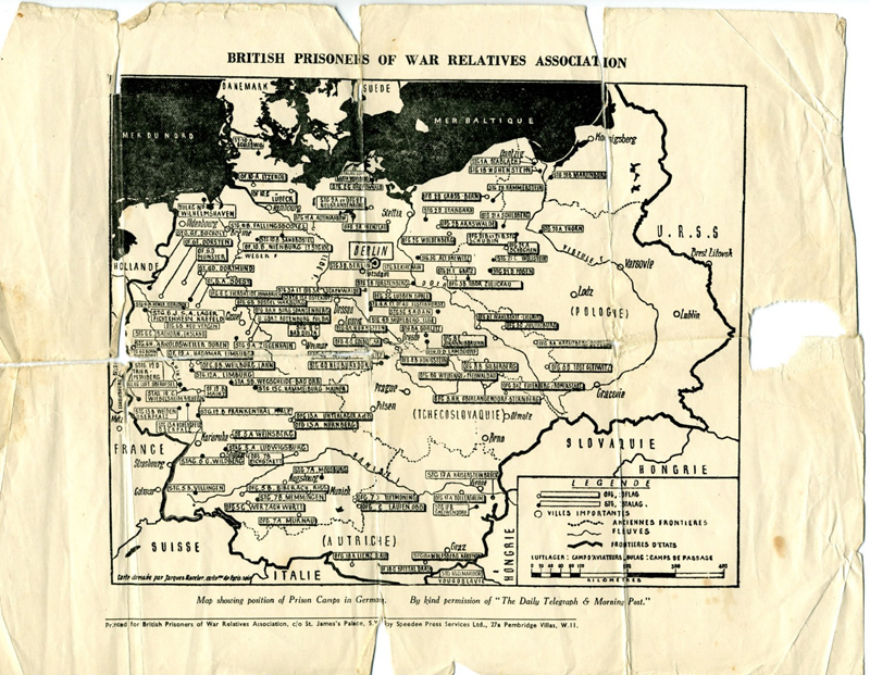 map of POW camps Click to enlarge