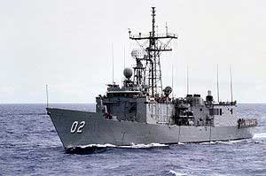 HMAS Canberra 11 at sea