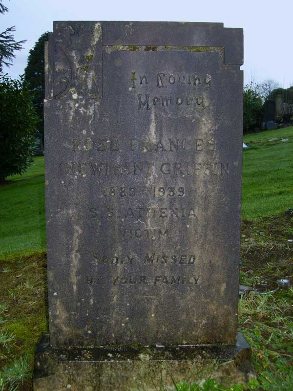 Rose Griffin headstone