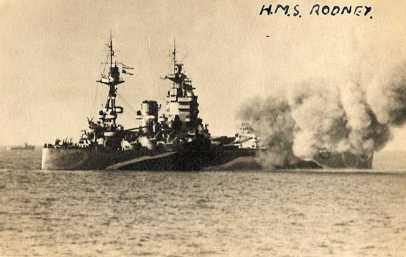 HMS Rodney On the back of the photo it says: