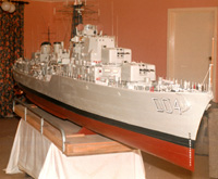 A 5 metre long model of HMAS Voyager built by Ken Taylor - click to read the article