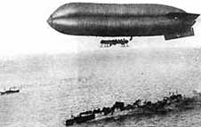Airship guards a convoy WW1
