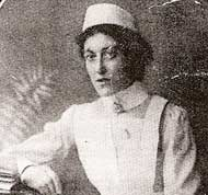Nurse Rodwell - hospital ship Anglia click to read more