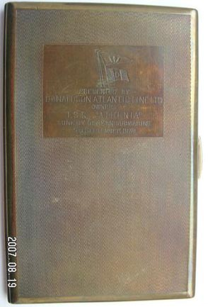 Athenia cigarette case