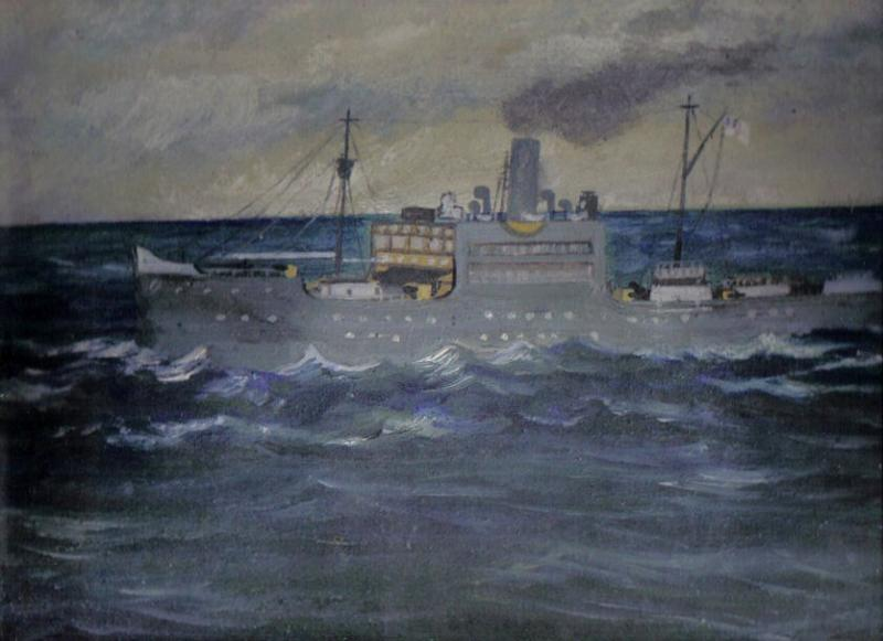 Painting of HMS Voltaire by William Palmer