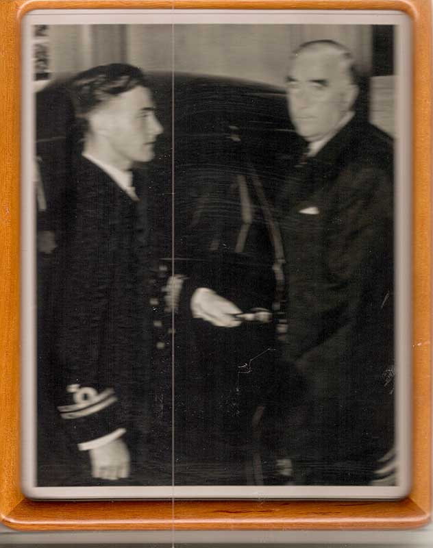 McKenzie J Gregory with Robert Menzies 1951
