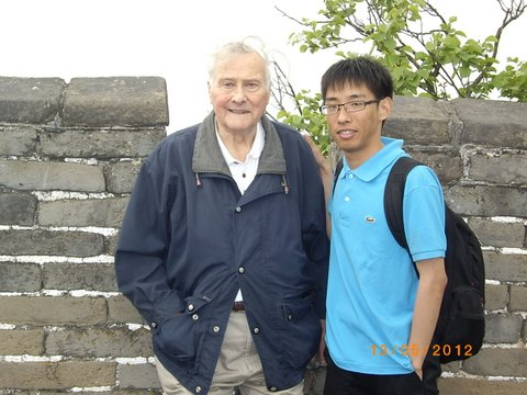 Me on the Wall at Beijing with our Chinese guide, Jason