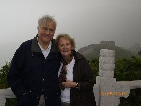 Denise and me on the Wall at Beijing
