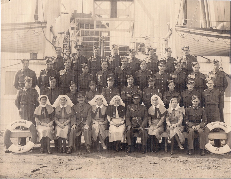 Picture of the crew of the Hospital Ship Worthing click to enlarge