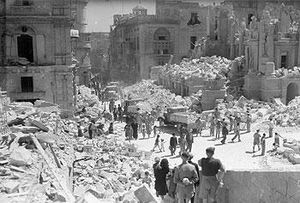 Valetta bomb damage May 1,1942