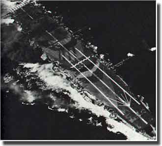 Japanese Carrier Zuiho attacked by US planes at Battle of Cape Engano, 25th. October 1944