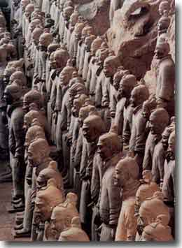 6000 Terracotta Warriors in Pit No 1, at the Museum housing these treasures