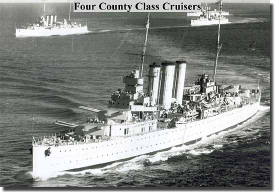 8 inch County Class Cruisers