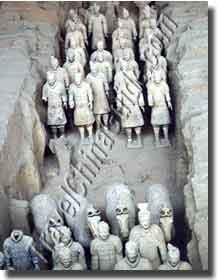 The array in Pit 1. Qin Terracotta Army Museum. Xian, China