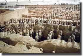Section of the Battle array, Qin Terracotta Army Museum, Xian, China
